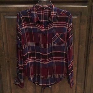 Like new Blu Pepper Flannel Shirt The Buckle S $44